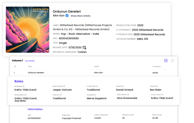 Digital Music Metadata